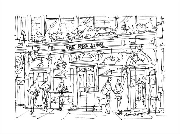 The Red Lion Pub - London by Brian Keating