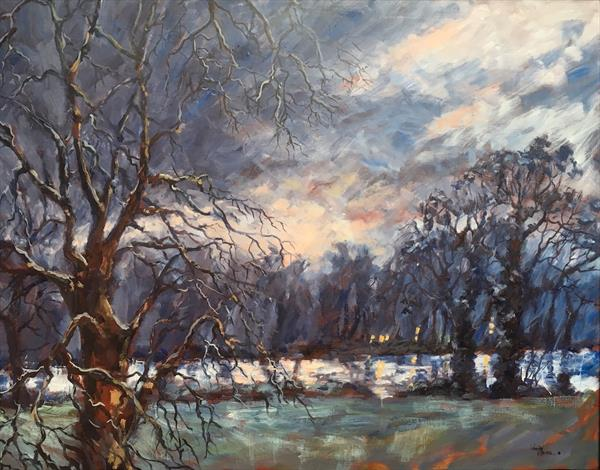 Winter Lakeside by Wendy Clouse