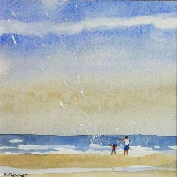 Beach Scene 1 by Barbara Fletcher