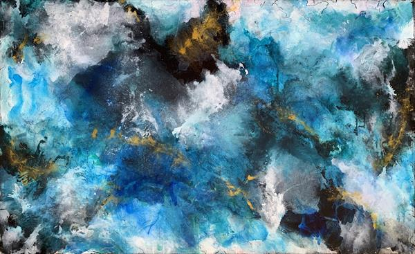 63''x 40''(160x100cm), Sound of Earth 6 by Veronica Vilsan