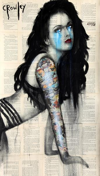 Girl with the sleeve tattoo by darren crowley
