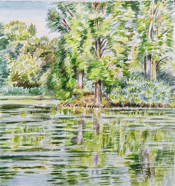 Lake View At Kew Gardens by Patricia Buckley