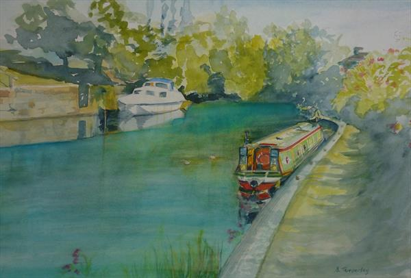 Canal Barge by Susan Temperley