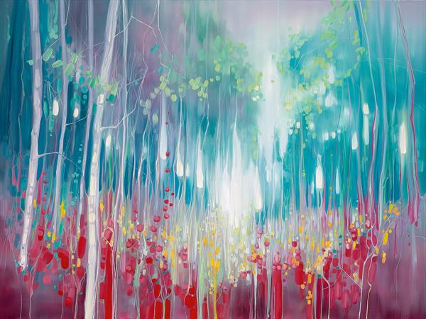 Summer Roaring - an abstract summer meadow painting by Gill Bustamante