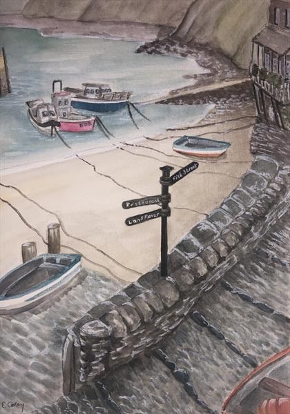 Clovelly Harbour by Liz Corley