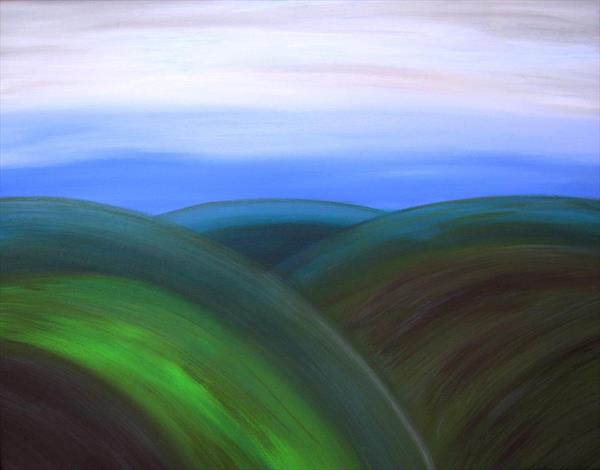 Rolling Hills Limited Edition Print A2 by Pauline Thomas