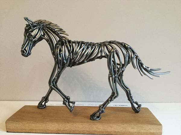 Horse (old nails) by Robert Batt