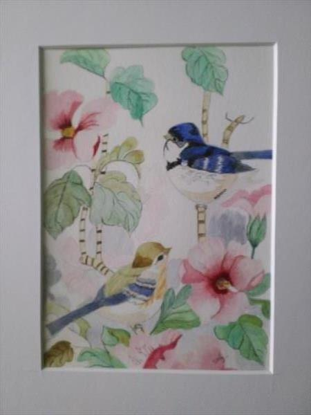 Birds and Flowers by Luz Campo de Sanmartin