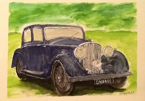 Bentley 1936 4 1/4 Ltr by Damian Philliben