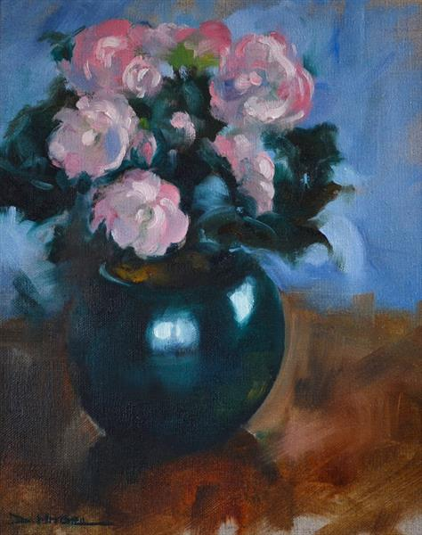 Potted Begonias by Denise Mitchell