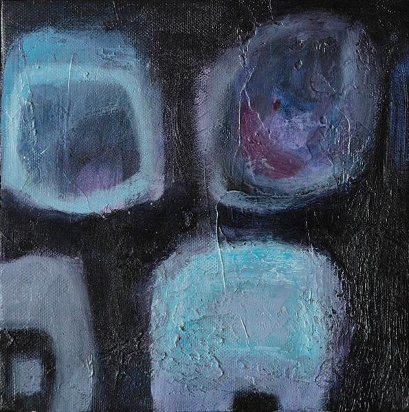 Small Blue Abstract by Caroline Kaye