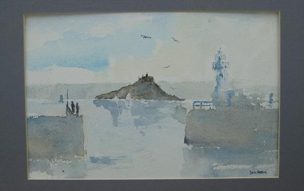 St Michael's Mount From Newlyn by Don Hoskin