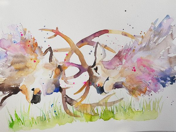 Rutting Stag  by Eleanor SMITH