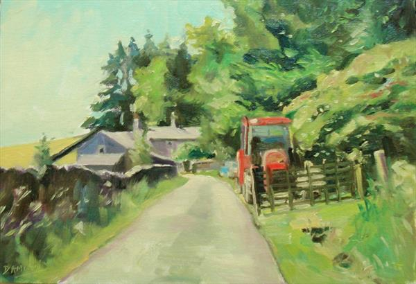 The Red Tractor by Damian Gerard Bland