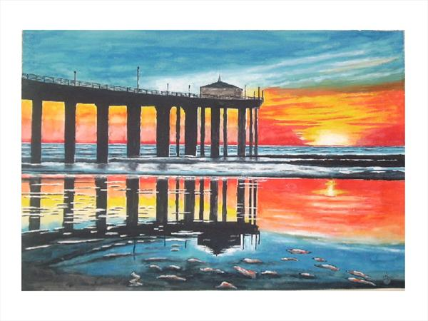 Pier Sunset by Aaron Lawrence