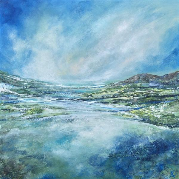 Abstract Welsh Land/Seascape  by Janice  Rogers