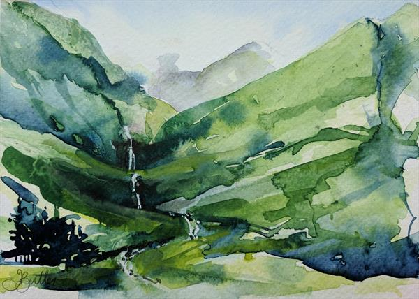 Behind the Drover's Inn, Loch Lomond by Tracy Butler