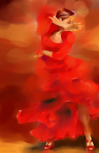 Flamenco Dancer, large size