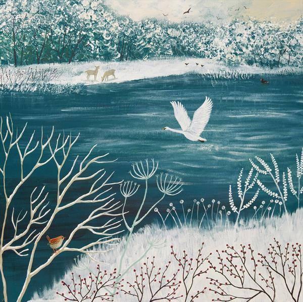 Across Winter Lake by Josephine Grundy
