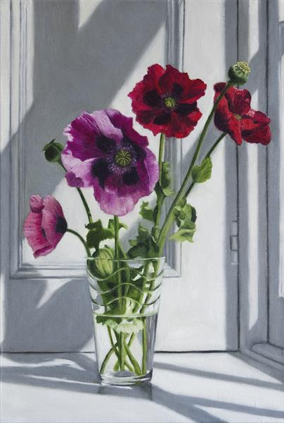 Red and Pink Poppies by Andrew Mcneile Jones