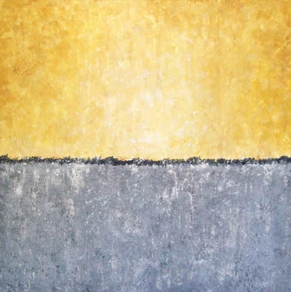 Contemporary  Yellow Abstract by Patricia Richards