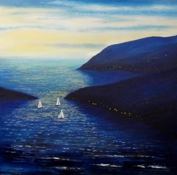 Sailing Home On a Late Tide by Gill Stokes