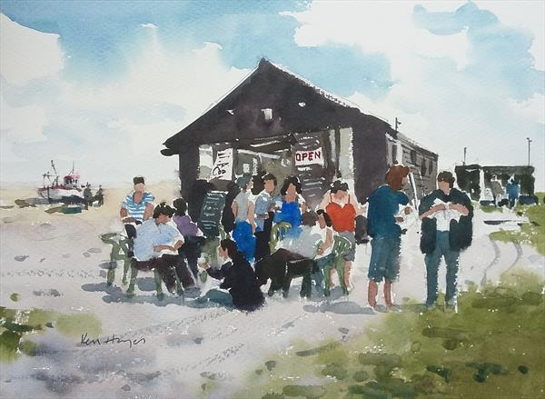 Fish & Chips at Southwold by Ken  Hayes