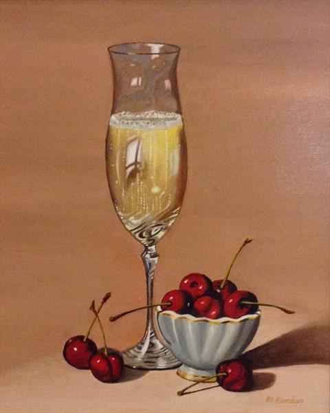 CHAMPAGNE AND CHERRIES by Margaret Riordan