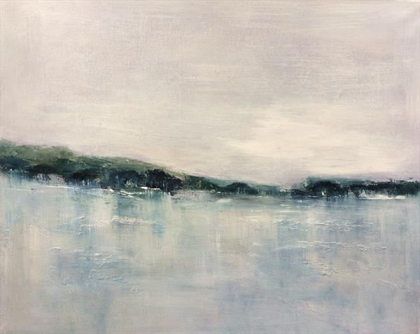 Still Waters Run Deep  Abstract Riverscape On Canvas 23.5
