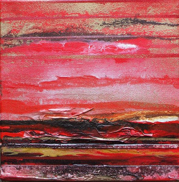 Coast Series Red  and Gold 2 by Mike Bell