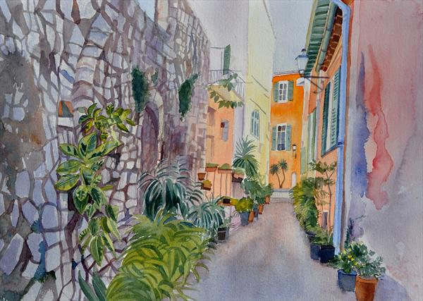 Rue De Villefranche by Mary Stubberfield