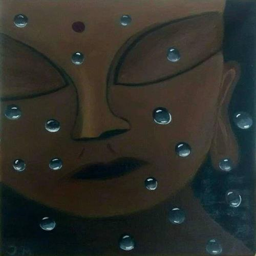 '' Buddha in the Rain ''  by Jelena Manestar