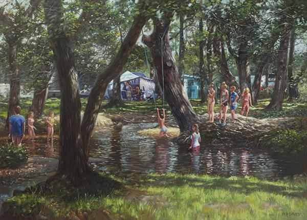 New Forest Camping Fun by Martin  Davey