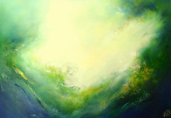 Emerald Ocean II by Gillian Luff