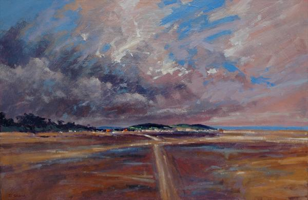 Storm Over Holkham Beach, Norfolk. by David Shiers
