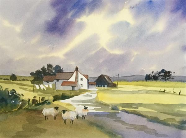 WASH DAY ON THE FARM by Susan Shaw