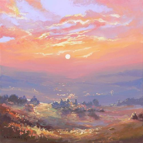Dawn Over the West Country (On Display At the Art Gallery Tetbury) by Mariusz Kaldowski
