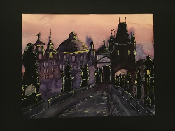 Charles Bridge at Night  by Stacey Rae