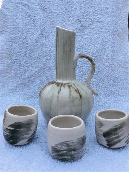 Jug and cups by Petru Hoza