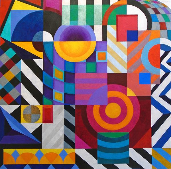 COMPOSITION - GEOMETRIC OVERLOAD by Stephen Conroy