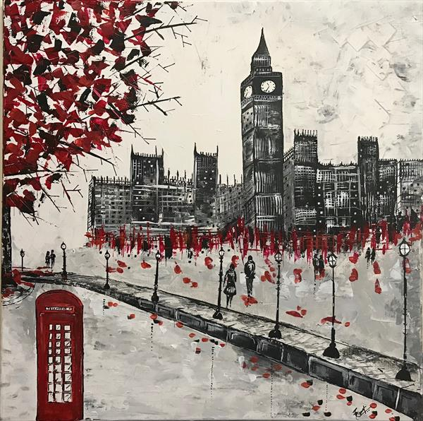 London  Abstract Painting by  Rizna  Munsif