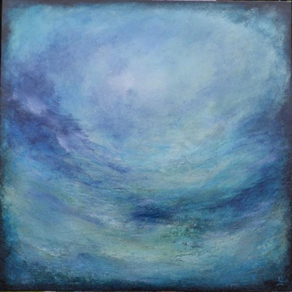 Abstract Ocean Blue by Janice  Rogers