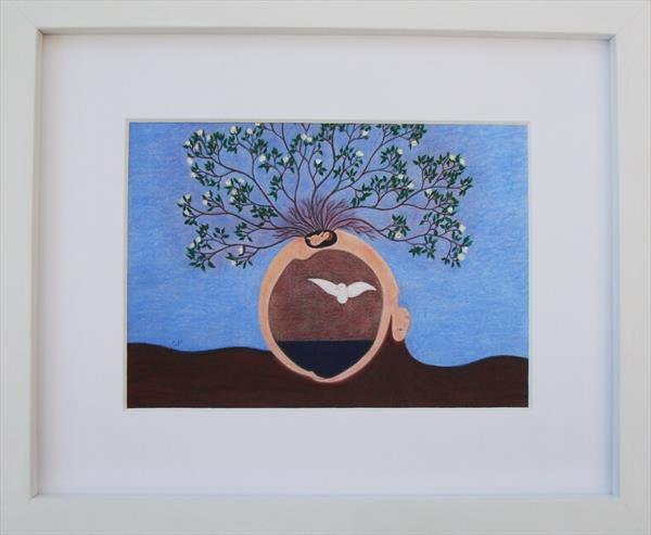 Inner and Outer Worlds (Framed) by Claudine Peronne