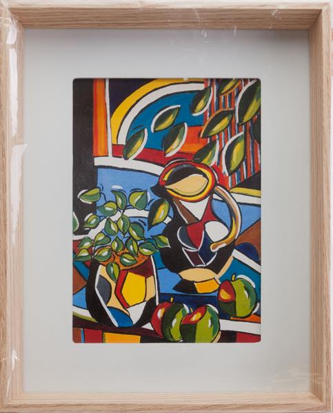 STILL LIFE WITH JUG AND THREE APPLES by Diana Aungier - Rose