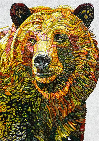 Abstract Bear (Sculptural) by Paula Horsley