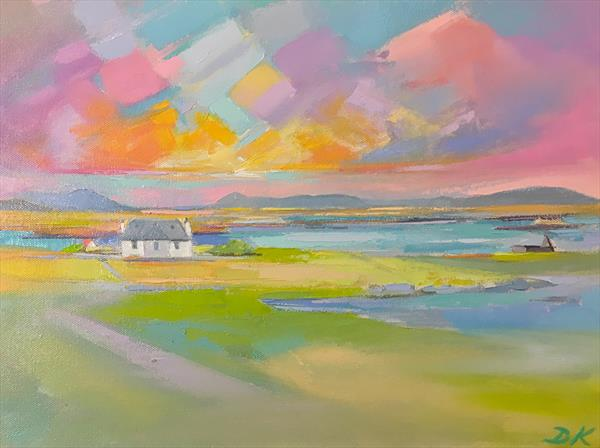 Isolated Croft house  by Donald  Macleod