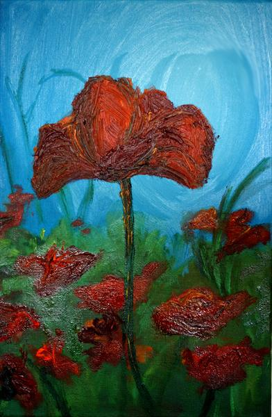 Poppies by Monika Hornsby