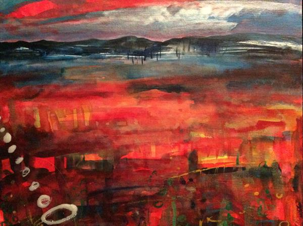 Indian summer landscape- Oban bay by Gwen Fleming