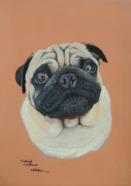 Jabba the Pug by Cathy Settle