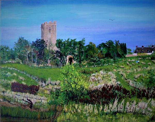 Sutton Church (Norfolk) by Alice P Jenkins